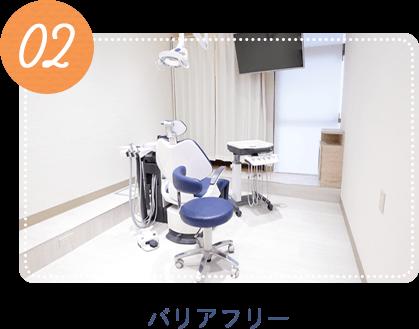 調布の歯医者 院内バリアフリー化